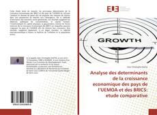 Couverture de Analyse des determinants de la croissance economique des pays de l'UEMOA et des BRICS: etude comparative