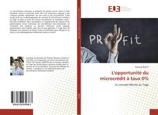 Buchcover von L'opportunité du microcrédit à taux 0%