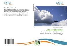 Couverture de Jaro International