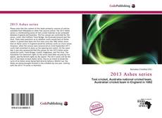 Portada del libro de 2013 Ashes series