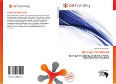 Cricket Scotland kitap kapağı