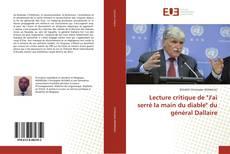 """Bookcover of Lecture critique de """"J'ai serré la main du diable"""" du général Dallaire"""