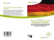 Portada del libro de Gouvernement de la VIIIe législature (Espagne)