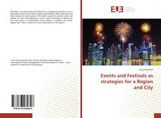 Buchcover von Events and Festivals as strategies for a Region and City