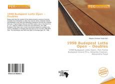 Portada del libro de 1998 Budapest Lotto Open – Doubles