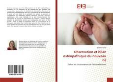 Buchcover von Observation et bilan ostéopathique du nouveau né