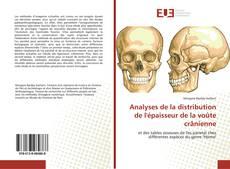 Обложка Analyses de la distribution de l'épaisseur de la voûte crânienne