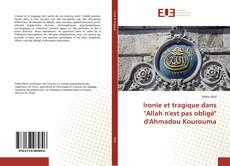 """Capa do livro de Ironie et tragique dans """"Allah n'est pas obligé"""" d'Ahmadou Kourouma"""