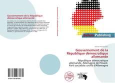Capa do livro de Gouvernement de la République démocratique allemande