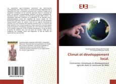 Couverture de Climat et développement local.