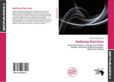 Buchcover von Anthony Harrison