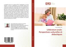 Bookcover of Littérature orale: Perspectives culturelles et didactiques