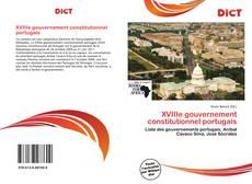 Portada del libro de XVIIIe gouvernement constitutionnel portugais