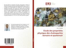 Обложка Etude des propriétés physique des chalcopyrites ternaire et quaternair
