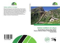 Обложка Italian settlers in Libya