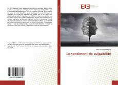 Bookcover of Le sentiment de culpabilité