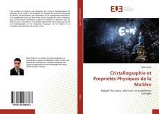 Couverture de Cristallographie et Propriétés Physiques de la Matière
