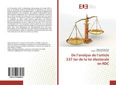 Bookcover of De l'analyse de l'article 237 ter de la loi électorale en RDC