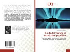 Portada del libro de Droits de l'homme et exploitation pétrolière