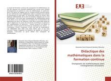 Capa do livro de Didactique des mathématiques dans la formation continue