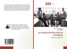 Les enjeux du bien-être en entreprise kitap kapağı