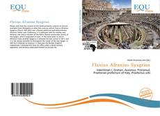 Capa do livro de Flavius Afranius Syagrius