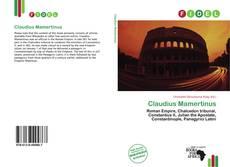 Copertina di Claudius Mamertinus