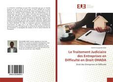Le Traitement Judiciaire des Entreprises en Difficulté en Droit OHADA的封面