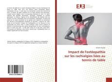 Обложка Impact de l'ostéopathie sur les rachialgies liées au tennis de table