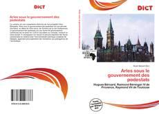 Capa do livro de Arles sous le gouvernement des podestats