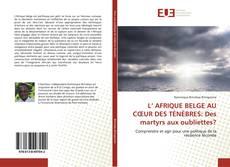 Copertina di L' AFRIQUE BELGE AU CŒUR DES TÉNÈBRES: Des martyrs aux oubliettes?