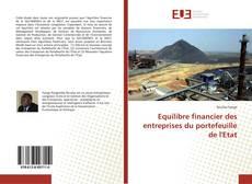 Copertina di Equilibre financier des entreprises du portefeuille de l'Etat