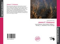 Bookcover of James F. Colaianni