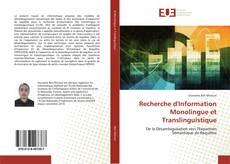Bookcover of Recherche d'Information Monolingue et Translinguistique