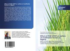 Bookcover of Effect of IFAD VCDP on welfare of smallholder farmers in Nigeria