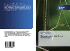 Portada del libro de Management of Rice Brown Planthoppers