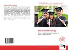 Bookcover of Kabarak University