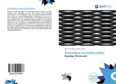 Copertina di Anisodus carniolicoides