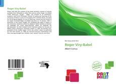 Roger Viry-Babel kitap kapağı