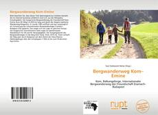 Bergwanderweg Kom–Emine kitap kapağı