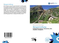 Bergzerreißung kitap kapağı