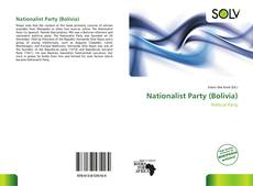 Portada del libro de Nationalist Party (Bolivia)