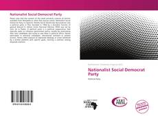 Bookcover of Nationalist Social Democrat Party