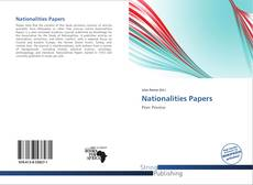 Bookcover of Nationalities Papers