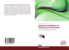 Select Committee on Statutory Instruments kitap kapağı