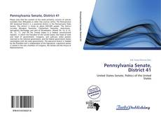 Bookcover of Pennsylvania Senate, District 41