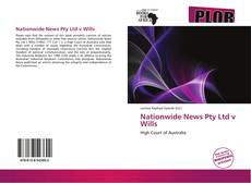 Bookcover of Nationwide News Pty Ltd v Wills