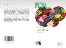 Bookcover of Ann Cotten