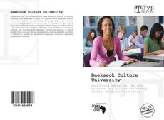 Bookcover of Baekseok Culture University