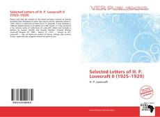 Bookcover of Selected Letters of H. P. Lovecraft II (1925–1929)
